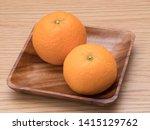 """japanese citrus named """"kiyomi...   Shutterstock . vector #1415129762"""