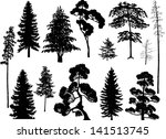 illustration with trees set... | Shutterstock .eps vector #141513745