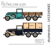 color vector icon set american...   Shutterstock .eps vector #1415140682