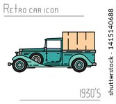 color vector icon american...   Shutterstock .eps vector #1415140688