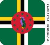 dominica flag illustration... | Shutterstock .eps vector #1415140955