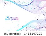 colorful molecules background.... | Shutterstock .eps vector #1415147222