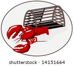 Vector Lobster With Trap Is...