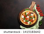 italian pizza with tomatoes ... | Shutterstock . vector #1415183642