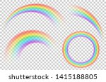 colorful transparent rainbows... | Shutterstock .eps vector #1415188805