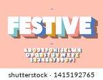 festive font 3d bold style cute ... | Shutterstock .eps vector #1415192765