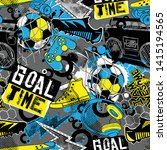 abstract seamless grunge urban... | Shutterstock .eps vector #1415194565