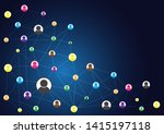network connection abstract... | Shutterstock .eps vector #1415197118