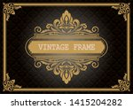 decorative frame with beautiful ...   Shutterstock .eps vector #1415204282