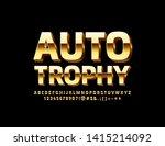 vector golden poster auto... | Shutterstock .eps vector #1415214092