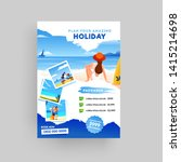 holiday  summer travel and... | Shutterstock .eps vector #1415214698