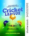 cricket league between two team ... | Shutterstock .eps vector #1415215292