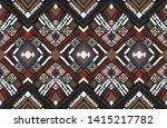 tribal vector ornament.... | Shutterstock .eps vector #1415217782