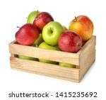 Wooden Crate Full Of Fresh...