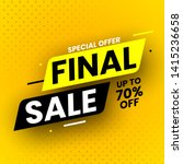 special offer final sale banner ... | Shutterstock .eps vector #1415236658
