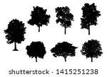 set of trees silhouette for... | Shutterstock . vector #1415251238