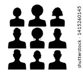set of silhouette avatar... | Shutterstock .eps vector #1415260145