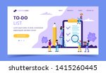 to do list landing page. big... | Shutterstock .eps vector #1415260445