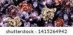 seamless floral pattern with... | Shutterstock . vector #1415264942