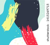pastel pattern design vector ... | Shutterstock .eps vector #1415269715