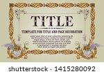 template advertisements  flyer  ...   Shutterstock .eps vector #1415280092