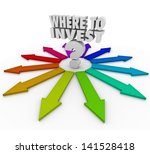 the question where to invest... | Shutterstock . vector #141528418