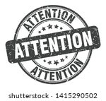 attention round grunge isolated ... | Shutterstock .eps vector #1415290502