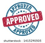 approved vintage round isolated ... | Shutterstock .eps vector #1415290505