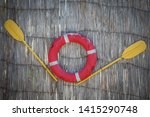 paddles and a lifeline... | Shutterstock . vector #1415290748