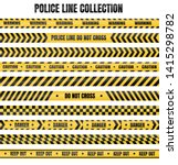 yellow and black police tape... | Shutterstock .eps vector #1415298782
