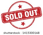 sold out vintage round isolated ... | Shutterstock .eps vector #1415300168