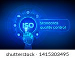 iso standards quality control... | Shutterstock .eps vector #1415303495