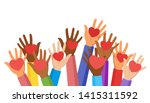 voluntary and donation flat... | Shutterstock .eps vector #1415311592