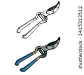 isolated  garden tools  pruning ... | Shutterstock .eps vector #1415313512
