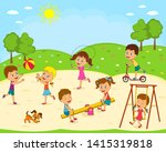 kids  boys and girls are...   Shutterstock .eps vector #1415319818