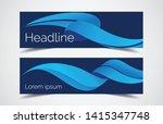 set of modern design   vector... | Shutterstock .eps vector #1415347748