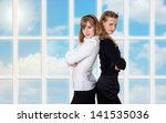 two charming business women | Shutterstock . vector #141535036