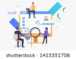 business people working on... | Shutterstock .eps vector #1415351708