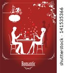 couple in the cafe. all... | Shutterstock .eps vector #141535366