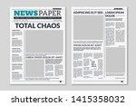 newspaper template. column... | Shutterstock .eps vector #1415358032