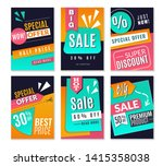 discount posters. promotional... | Shutterstock .eps vector #1415358038