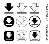 set of simple sign download icon   Shutterstock .eps vector #1415361962