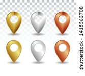 location icons set.vector... | Shutterstock .eps vector #1415363708
