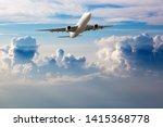 White Passenger Plane In Fligh...