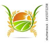 farm icon concept logo full... | Shutterstock .eps vector #1415372258