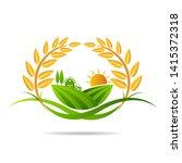 farm icon concept logo full... | Shutterstock .eps vector #1415372318