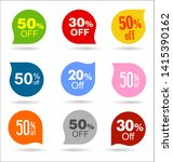 collection of sale stickers and ... | Shutterstock . vector #1415390162