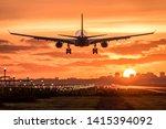 Passenger Airplane Is Landing...