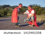 father and son playing... | Shutterstock . vector #1415401358