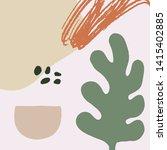 mid century modern abstract art.... | Shutterstock .eps vector #1415402885
